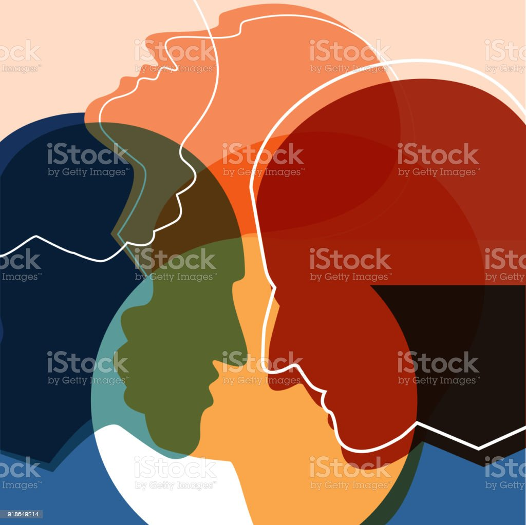 People silhouettes, adult and child. Vector ilustration. vector art illustration