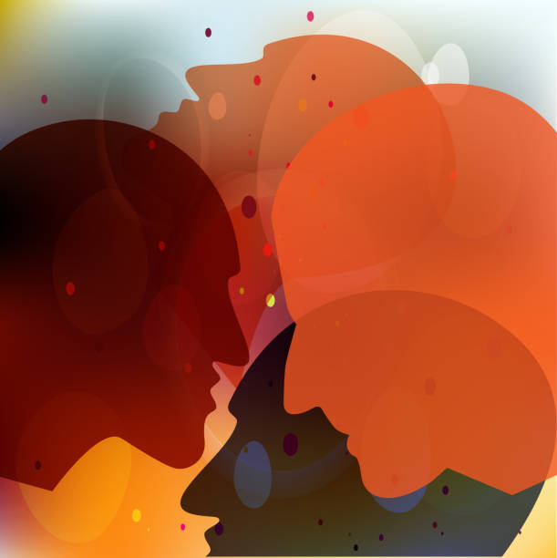 stockillustraties, clipart, cartoons en iconen met mensen silhouetten, volwassene en kind. vector ilustration. - paranoïde