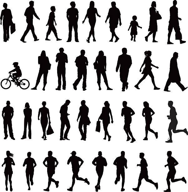 Menschen Silhouetten – Vektorgrafik