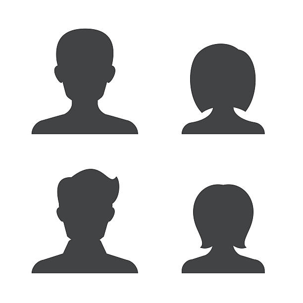 bildbanksillustrationer, clip art samt tecknat material och ikoner med people silhouettes - profile photo