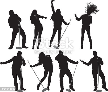 istock People singing song 594943660