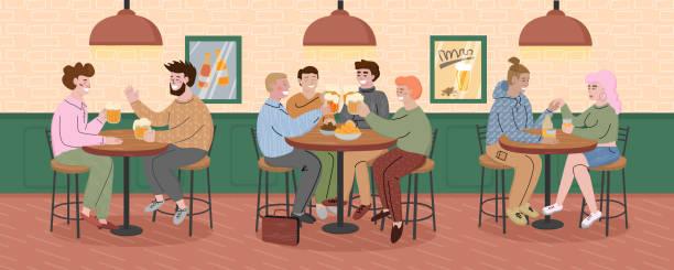 Pub food stock illustrations