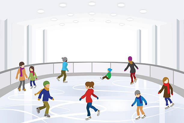 4 160 Ice Skating Rink Illustrations Royalty Free Vector Graphics Clip Art Istock