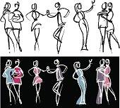 People sketch - dance