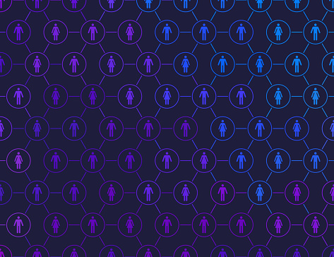 People Social Media Connections Network Background