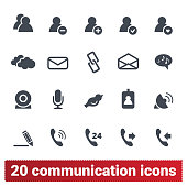 People Social Network, Internet Communication Icons