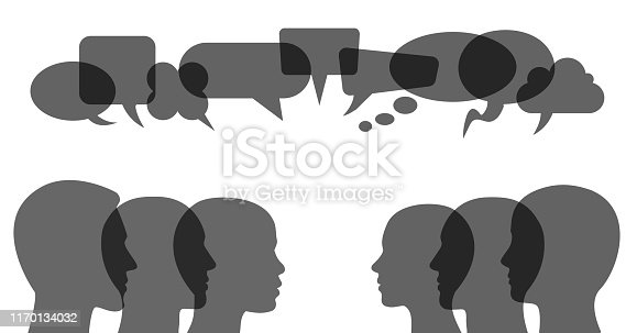 People speech, discussion, meeting, dialogue - stock vector