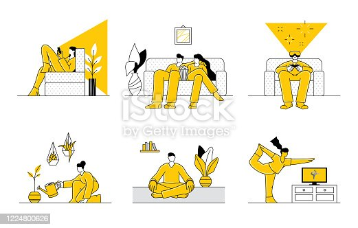 istock People staying at home 1224800626