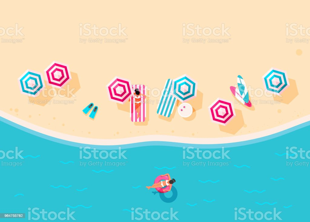 People swim and sunbathe. royalty-free people swim and sunbathe stock vector art & more images of beach