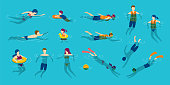 istock People Swimming and Diving in the Sea or Pool 1309604959