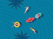 istock People swimming in a pool 1294103867