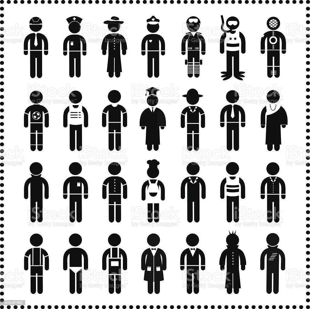 Menschen In Karriere Symbol Stock Vektor Art und mehr Bilder von ...