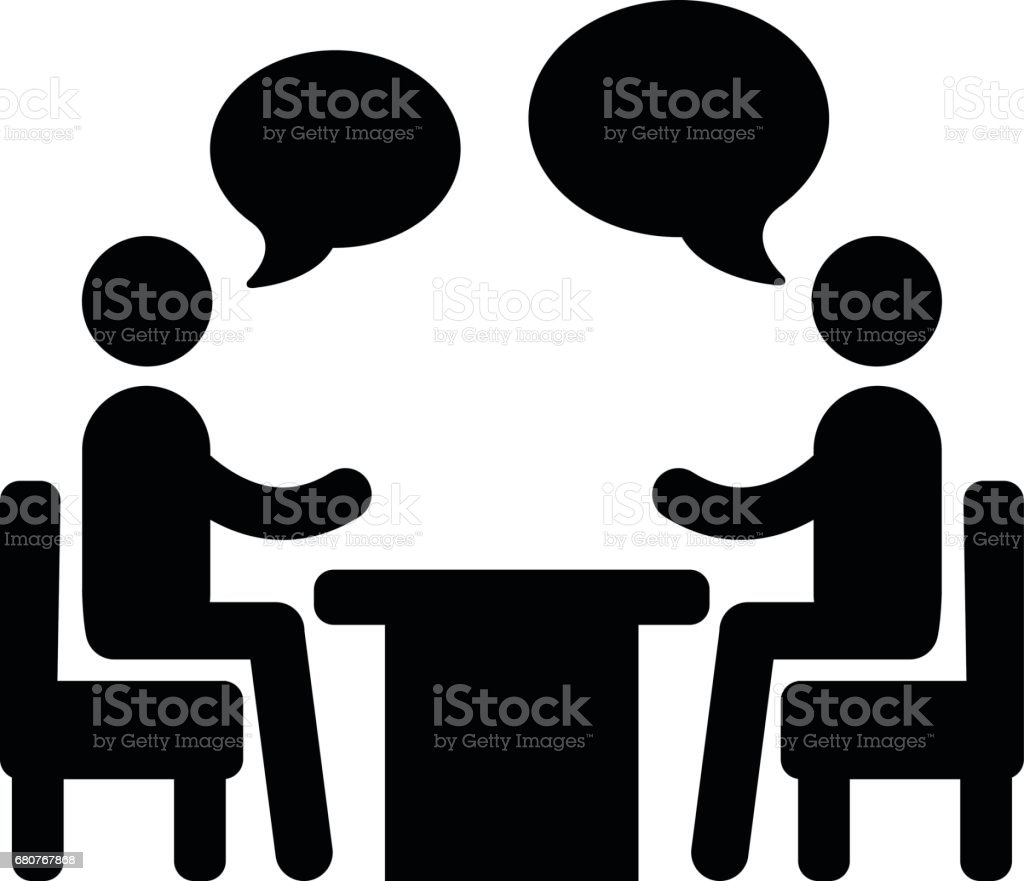 royalty free two people talking clip art vector images rh istockphoto com clipart talk on phone talk back clipart