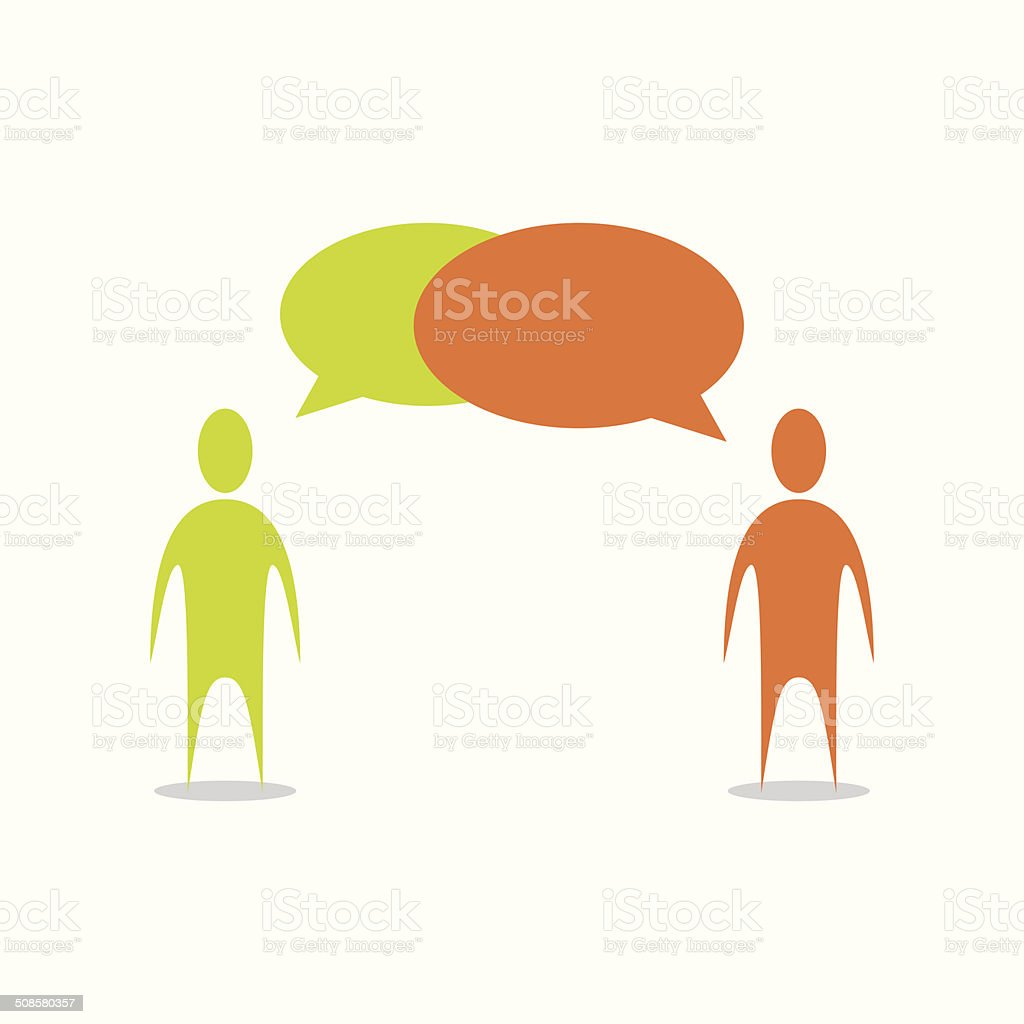 People Talking Illustration vector art illustration