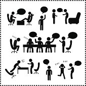 people talking symbol