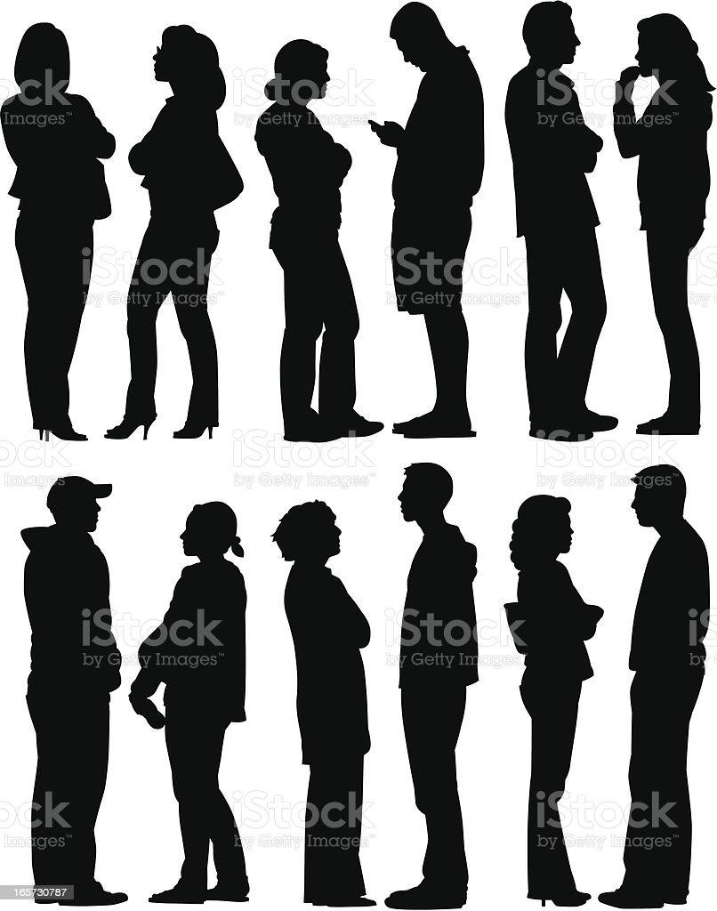 Personnes discutant - Illustration vectorielle