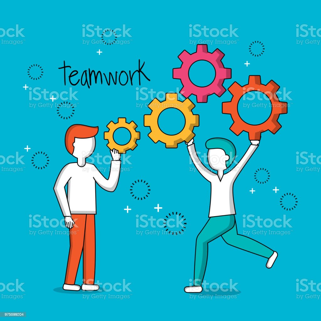 people teamwork concept vector art illustration