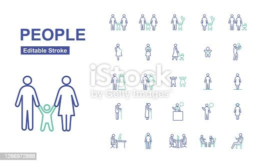 Trendy People Icons.
