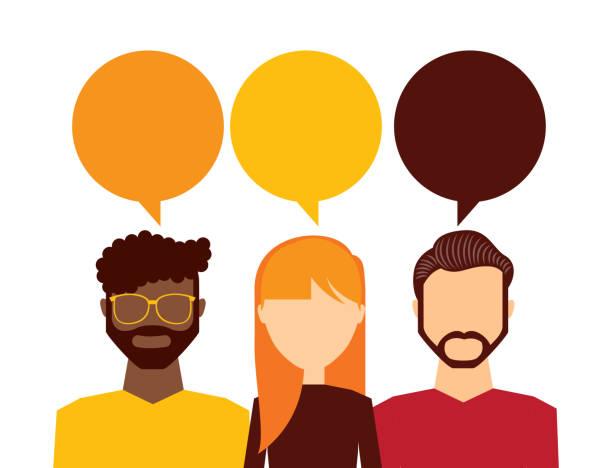 diseño de pensamiento de personas - ilustración de arte vectorial