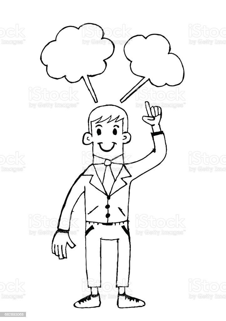 Menschen denken Idee Lizenzfreies menschen denken idee stock vektor art und mehr bilder von anzug