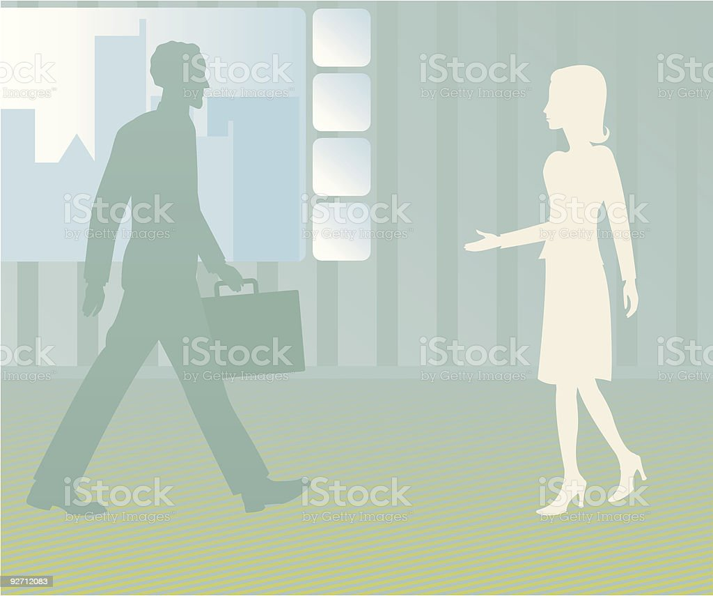 People to See royalty-free stock vector art