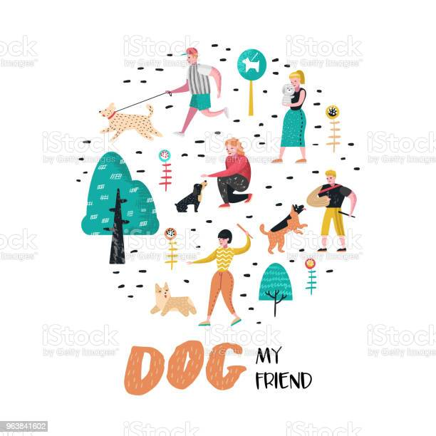 People training dogs in the park dog doodle characters walking with vector id963841602?b=1&k=6&m=963841602&s=612x612&h= wifpgyftrijlpyvg 1xkcrk8r22nx3gqmrwadb mhm=