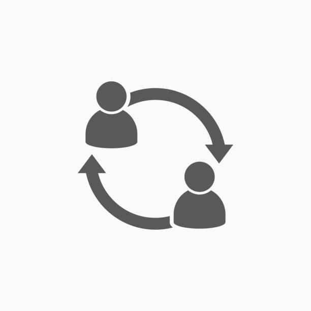 people transfer icon people transfer icon transfer image stock illustrations