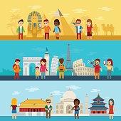 People travel around world