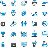 People Traveling icons set