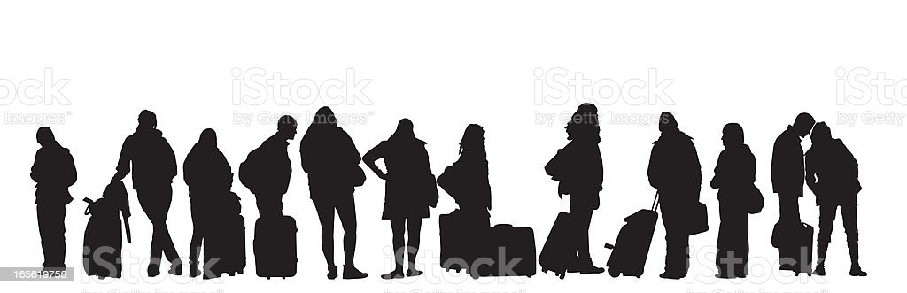 People Traveling royalty-free stock vector art