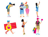 People travelling, vector illustration
