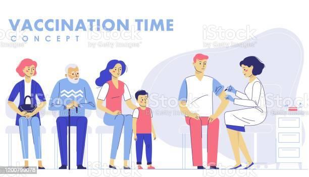 Concept De Vaccination Des Personnes Pour La Santé Dimmunité Vecteurs libres de droits et plus d'images vectorielles de Adulte