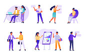 Business people working together,  Flat  modern vector illustration.