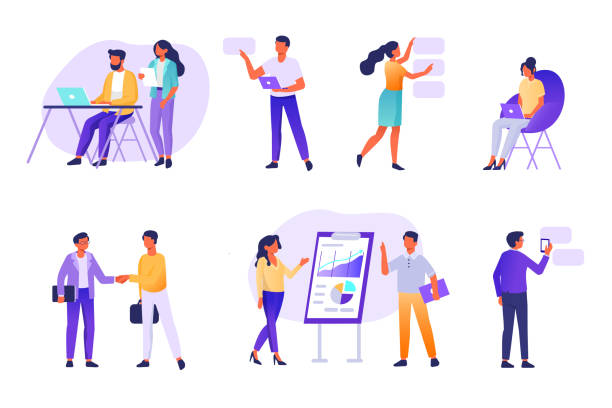 people - work stock illustrations