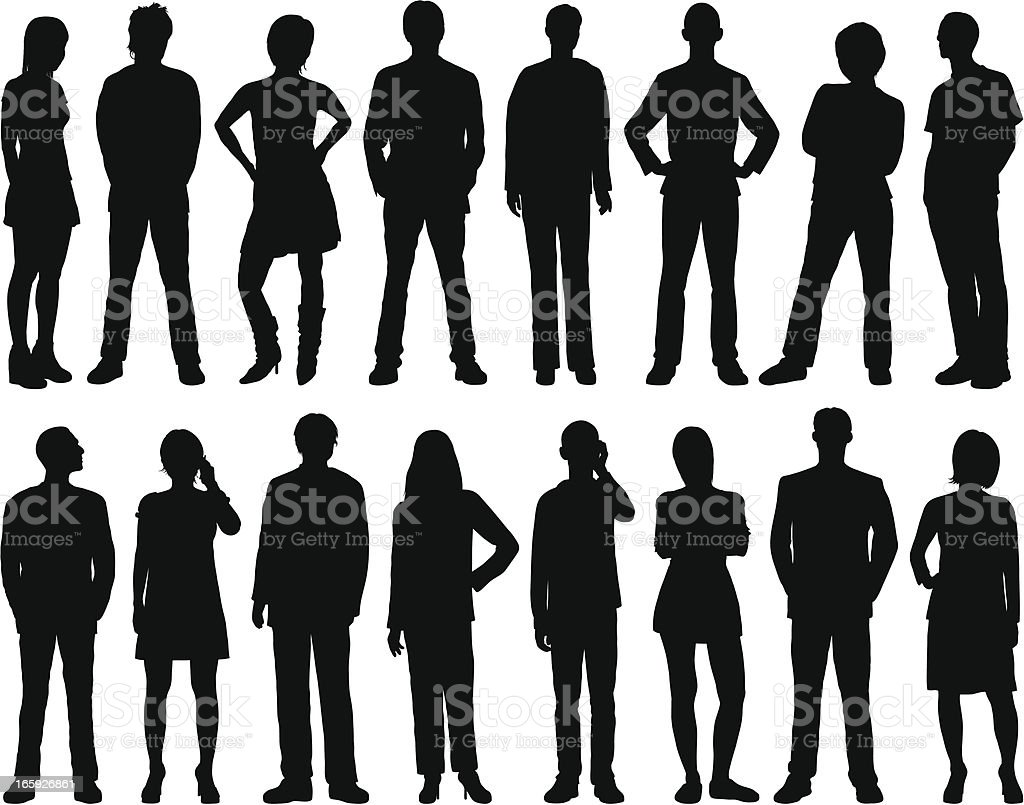 People royalty-free people stock vector art & more images of adult