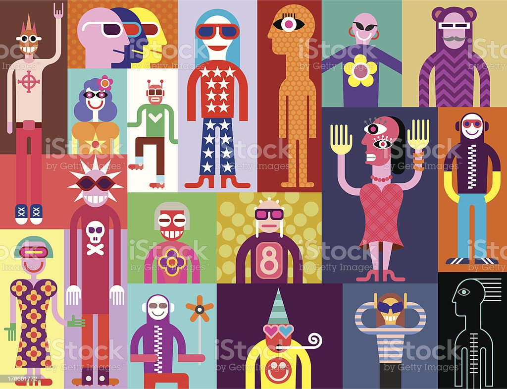 People royalty-free people stock vector art & more images of abstract