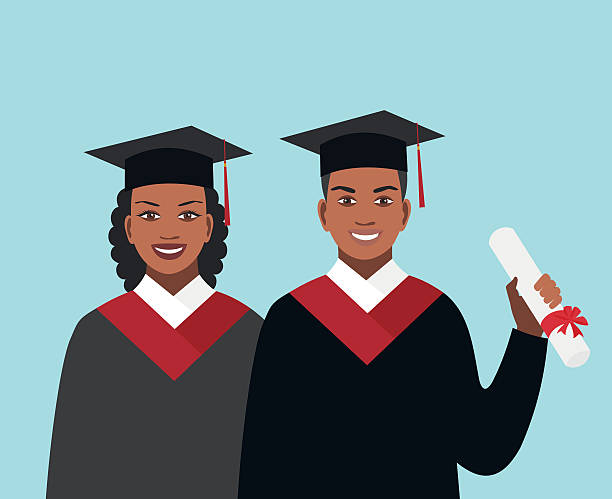 Royalty Free African American College Graduate Clip Art ...