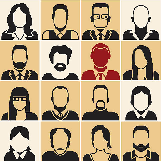 people vector - old man glasses silhouettes stock illustrations, clip art, cartoons, & icons