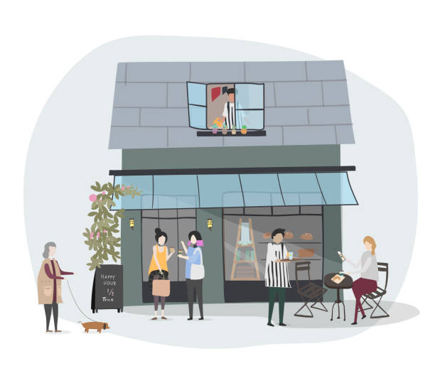 people vector - small business stock illustrations