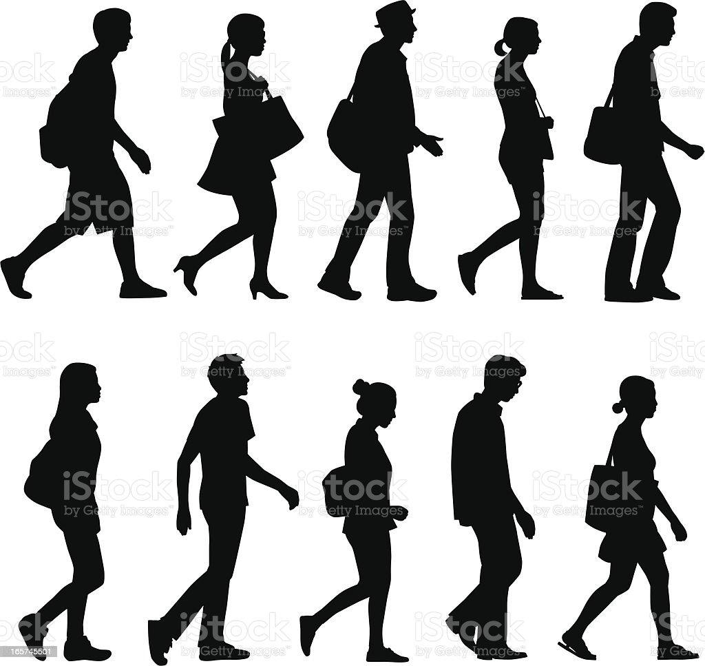 People Walking Royalty Free Stock Vector Art Amp