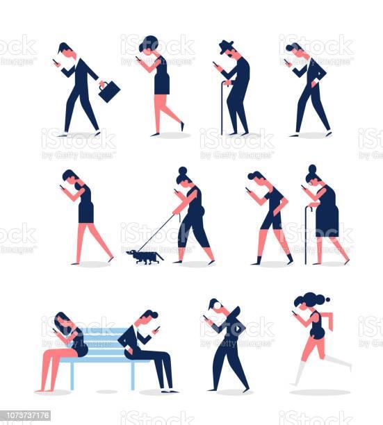 People walking with gadgets men and women side view flat vector set vector id1073737176?b=1&k=6&m=1073737176&s=612x612&h=vqfzlzwqifo9elwgnd1qx0bi0swegrvsb70pmyclje4=