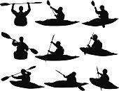 People water rafting