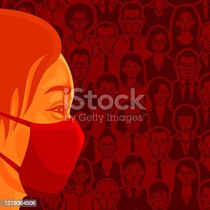 People wearing medical face masks for coronavirus.