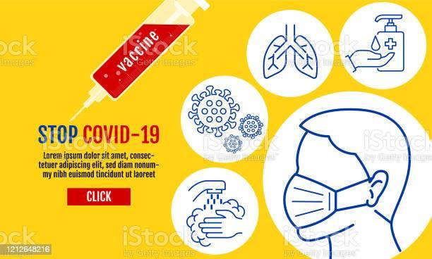 바이러스 우한 Covid19 코로나바이러스 보호 관련 벡터 라인 아이콘 벡터 보호 조치 코로나바이러스 증상 등의 아이콘을 포함하는 보호 의료 용 마스크를 착용하는 사람들 19에 대한 스톡 벡터 아트 및 기타 이미지