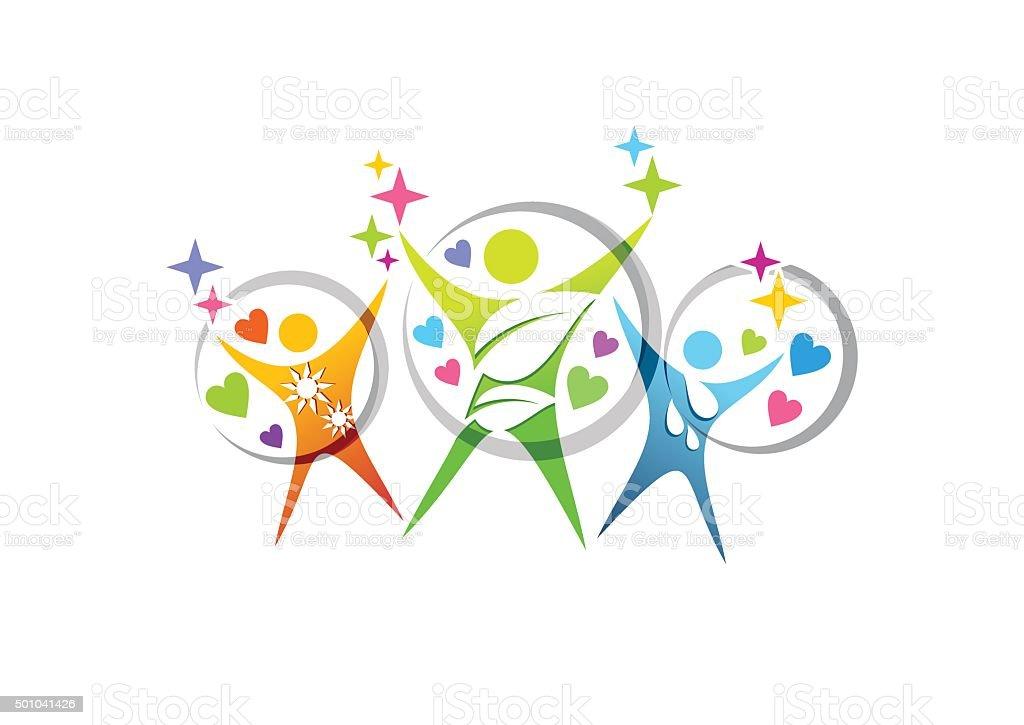 Persone Benessere Salute Famiglia Istruzione Simbolo Logo Icona Vettoriale Di Design Immagini Vettoriali Stock E Altre Immagini Di A Forma Di Stella Istock