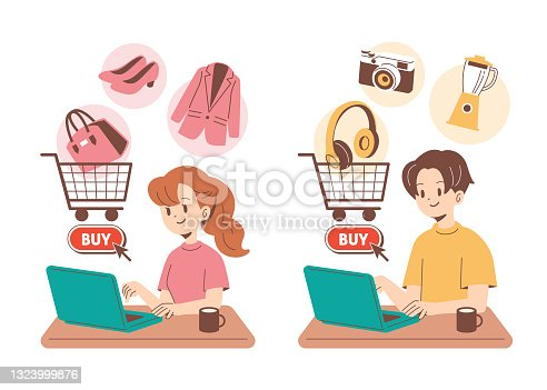 istock People who are shopping online 1323999876