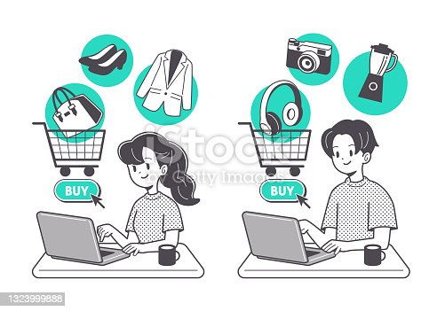 istock People who are shopping online 1323999888