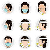 istock People with a safety visor and face mask 1226103913
