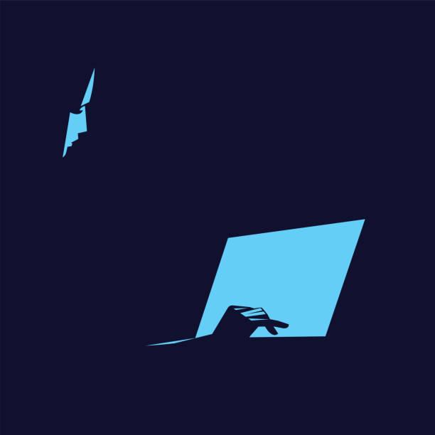 People with devices. – artystyczna grafika wektorowa