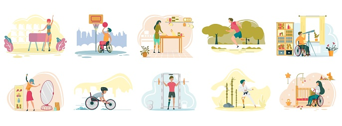 People with Disabilities Have Everyday Activities.